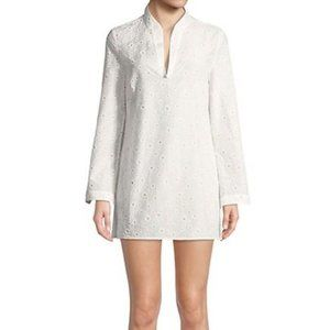 Tory Burch Stephanie Daisy Cover-Up Tunic White Md